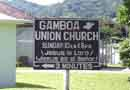 Gamboa Church<BR>sign